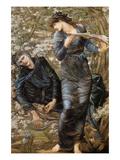 The Beguiling of Merlin Poster af Edward Burne-Jones