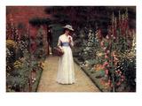 Lady in the Garden Art by Edmund Blair Leighton