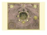 Phases Luna Posters por Andreas Cellarius