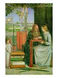 Childhood of the Virgin Mary Posters av Dante Gabriel Rossetti