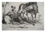 Mamluk Resting Kunstdrucke von Antoine Charles Horace Vernet