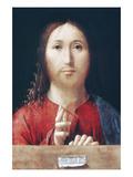 Christ Blessing Posters af  Antonello da Messina