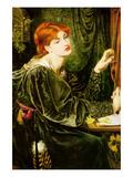 Veronica Veronese Posters av Dante Gabriel Rossetti