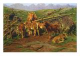 Weaning the Calves Print by Rosa Bonheur
