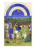 Le Tres Riches Heures Du Duc De Berry - May Láminas por Paul Herman & Jean Limbourg