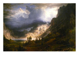 Mt. Rosalie, a Strom in the Mountains Prints by Albert Bierstadt