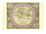 Hemisphaerium Orbis Antiqui Juliste tekijänä Andreas Cellarius