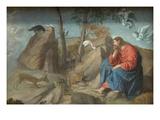 Christ in the Wilderness Plakater af Moretto Da Brescia