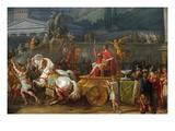 The Triumph of Aemilius Paulus, Kunstdrucke von Antoine Charles Horace Vernet
