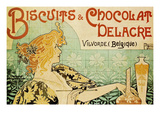 Biscuits and Chocolate Delcare Posters por Alphonse Mucha