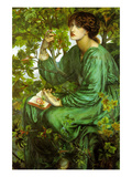 The Day Dream Plakater af Dante Gabriel Rossetti