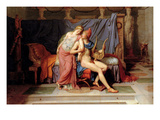 Courtship of Paris and Helen Poster by Jacques-Louis David