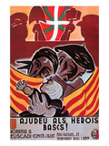 Aid for the Basque Heroes Posters by  S.H. Prives