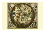 Haemisphaerium Stellatum Australe Aequali Posters tekijänä Andreas Cellarius