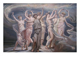 The Pleiades - Seven Sisters Kunstdrucke von Elihu Vedder