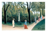 Luxembourg Gardens - Monument to Chopin Affiche par Henri Rousseau