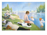 Bathing at Asnieres Affiches par Georges Seurat
