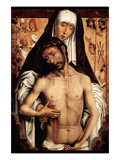 Maria with Dying Christ by Memling Poster by Hans Memling