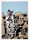 Simulacres Silketrykk av Jean Dubuffet