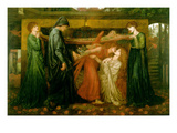Dante's Dream at the Time of the Death of Beatrice Posters av Dante Gabriel Rossetti