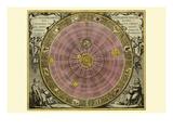 Planisphaerium Copernicanum Posters por Andreas Cellarius
