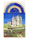 Le Tres Riches Heures Du Duc De Berry - September Kunstdrucke von Paul Herman & Jean Limbourg