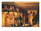 Phidias Showing the Frieze of the Parthenon to His Friends Plakater af Sir Lawrence Alma-Tadema