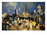 Riverfront Posters av George Bellows