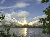 Space Shuttle Photographic Print by John Raoux
