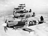 WWII Mark XII Spitfires 1944 Photographic Print