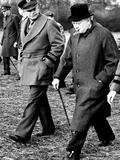 Eisenhower Churchill Fotografisk tryk
