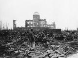 WWII Japan Hiroshima 1945 Fotografisk trykk