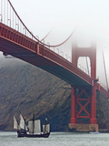 Nina under the Golden Gate Photographic Print by Eric Risberg