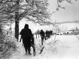 WWII Battle of the Bulge Fotografie-Druck