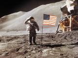 Apollo 15 Moonwalk 1971 Premium-Fotodruck