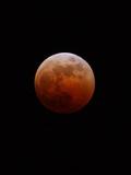 Eclipse lunaire Reproduction photographique par Alan Diaz
