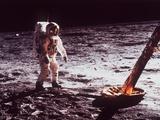 Apollo 11 Lunar Modul, Moon Walk Lámina fotográfica