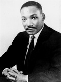 Martin Luther King Fotoprint van  Associated Press