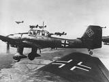 WWII German JU 87 Stuka Fotografie-Druck