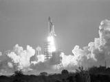 Challenger Liftoff 1984 Fotografie-Druck von Glenda Dixon