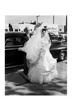 Elizabeth Taylor in Wedding Dress Poster von Frank Worth