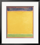Untitled (Blue, Yellow, Green on Red), 1954 Poster por Mark Rothko