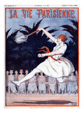 La Vie Parisienne, A Vallee, 1923, France Reproduction procédé giclée