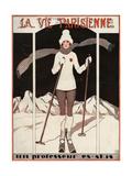 La Vie Parisienne, Georges Leonnec, 1924, France Giclée-tryk