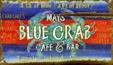 Blue Crab Vintage Wood Sign