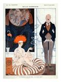 La Vie Parisienne, G Barbier, 1918, France Giclee-trykk