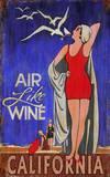 Air Like Wine Vintage Wood Sign