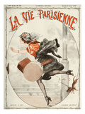 La Vie Parisienne, Cheri Herouard, 1919, France Giclée-tryk