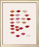 Lábios Impressão giclée emoldurada por Andy Warhol