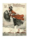 La Vie Parisienne, Rene Vincent, 1918, France Giclée-tryk